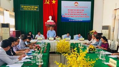 Mặt trận Cần Thơ phản biện dự thảo nghị quyết của HĐND thành phố