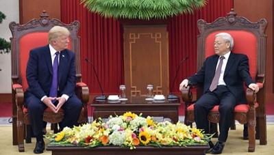Tổng Bí thư, Chủ tịch nước và Tổng thống Trump chúc mừng 25 năm quan hệ Việt Nam - Hoa Kỳ
