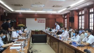 Thứ trưởng Bộ Y tế làm việc với Quảng Nam về điều trị bệnh nhân Covid-19