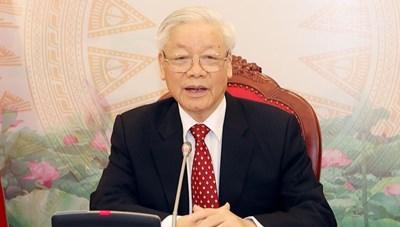 Tổng Bí thư, Chủ tịch nước điện đàm với người đồng cấp Trung Quốc