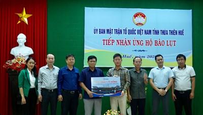 Thêm nhiều doanh nghiệp ủng hộ đồng bào vùng lũ Thừa Thiên-Huế