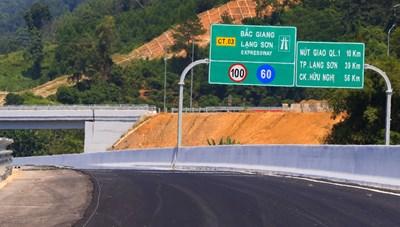 Đề xuất miễn phí lưu thông cao tốc Bắc Giang - Lạng Sơn