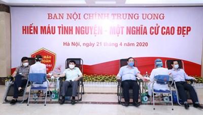 Ban Nội chính Trung ương hưởng ứng Ngày 'Toàn dân hiến máu tình nguyện'