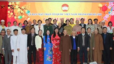 Mặt trận Hà Nội: Gặp mặt 128 văn nghệ sĩ, trí thức, chức sắc tôn giáo, người dân tộc thiểu số