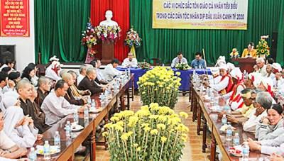 Ninh Phước (Ninh Thuận): Họp mặt chức sắc các tôn giáo, người có uy tín tiêu biểu