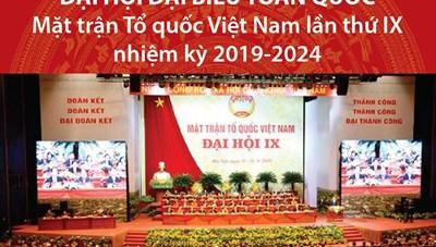 [Infographics] Đại hội đại biểu toàn quốc Mặt trận Tổ quốc Việt Nam lần thứ IX