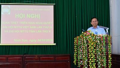 Ninh Thuận: Triển khai Nghị quyết Đại hội MTTQ Việt Nam