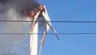 [VIDEO] Cháy tuabin điện gió trị giá 70 tỷ đồng
