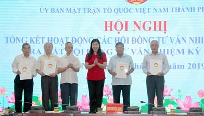 Mặt trận Hà Nội: Ra mắt Hội đồng tư vấn nhiệm kỳ 2019-2024