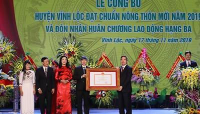 Huyện Vĩnh Lộc về đích nông thôn mới 'ngoài kế hoạch'