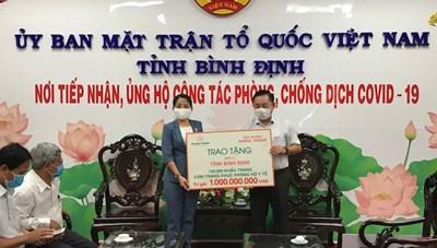 Mặt trận Bình Định: Tiếp nhận ủng hộ vật tư y tế phòng, chống dịch Covid-19 trị giá 1 tỷ đồng