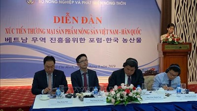 Đẩy mạnh xuất khẩu nông sản vào thị trường Hàn Quốc