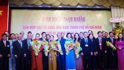 Ông Huỳnh Minh Thiện được bầu làm Chủ tịch Liên hiệp các tổ chức hữu nghị TP HCM