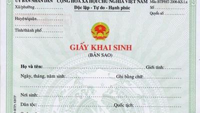 Giấy khai sinh là giấy tờ hộ tịch gốc của cá nhân