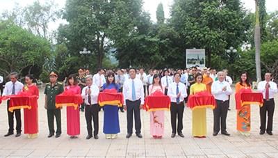 Khánh thành Đền thờ liệt sĩ tại Nghĩa trang liệt sĩ Hòn Dung