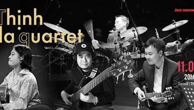 Nhóm nhạc Thịnh Fla Quartet biểu diễn nhạc Jazz Manouche.