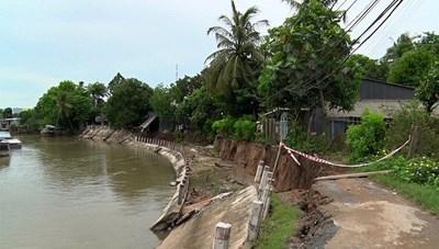 Ninh Bình: Nhiều hộ dân khốn khổ do bờ kè sụt lún