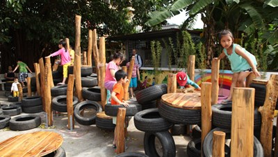 Sân chơi tái chế cùng cộng đồng