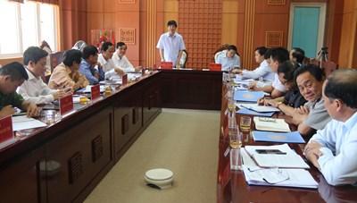 Trưởng Ban Nội chính Trung ương làm việc với Thường trực Tỉnh ủy Quảng Nam