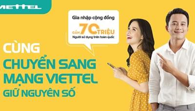 Viettel hỗ trợ khách hàng chuyển mạng giữ số ngay tại nhà