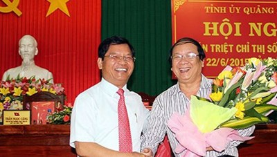 Ông Nguyễn Thanh Quang, tân phó bí thư tỉnh ủy Quảng Ngãi
