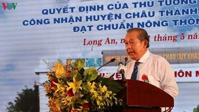 Châu Thành, huyện nông thôn mới đầu tiên của tỉnh Long An