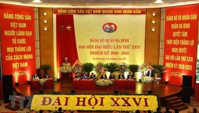 Đại hội Đảng quận Ba Đình - đại hội điểm cấp quận đầu tiên của TP Hà Nội
