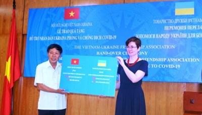 Hội Hữu nghị Việt Nam - Ukraina hỗ trợ người dân Ukraina phòng, chống dịch Covid-19