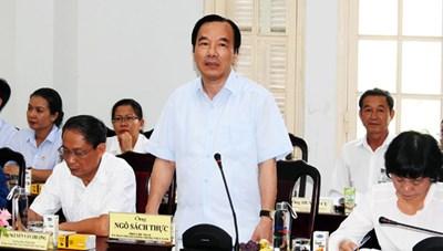 Phó Chủ tịch Ngô Sách Thực làm việc tại Đà Nẵng
