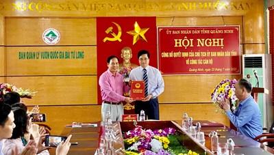 Quảng Ninh bổ nhiệm Phó Giám đốc Vườn Quốc gia Bái Tử Long