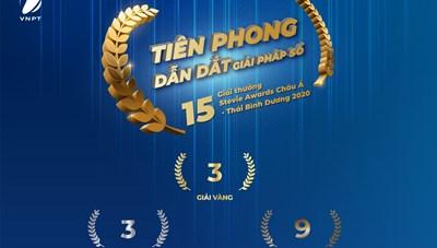 VNPT 'ẵm' liền 15 giải tại Stevie Awards châu Á - Thái Bình Dương 2020