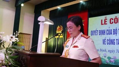 Công an tỉnh Nam Định có nữ Thượng tá làm Phó Giám đốc