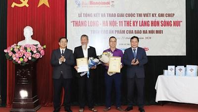 Trao giải cuộc thi 'Thăng Long - Hà Nội: 11 thế kỷ lắng hồn sông núi'