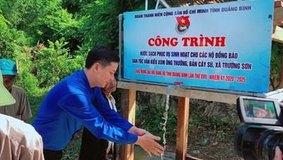 Quảng Bình: Bàn giao công trình nước sinh hoạt cho đồng bào Vân Kiều