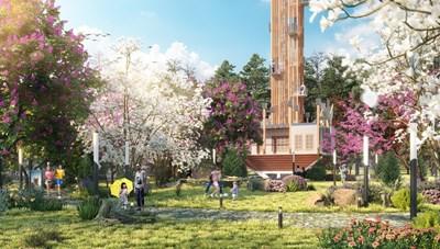 """Công viên văn hóa Tây Bắc - Nét """"chấm phá đặc sắc"""" giữa núi rừng Yên Bái"""