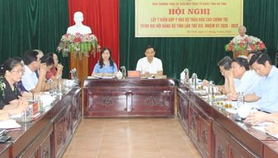 Góp ý dự thảo Báo cáo Chính trị Đại hội Đảng bộ tỉnh Hà Tĩnh