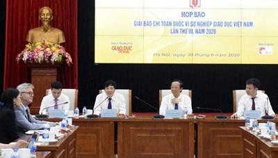 Giải báo chí toàn quốc 'Vì sự nghiệp giáo dục Việt Nam 2020'
