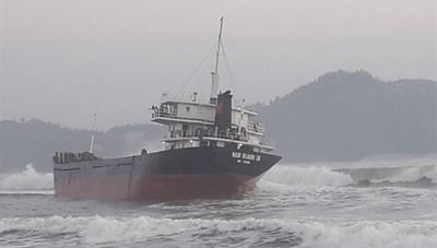 Cứu hộ thành công thủy thủ đoàn tàu hàng mắc nạn trên biển