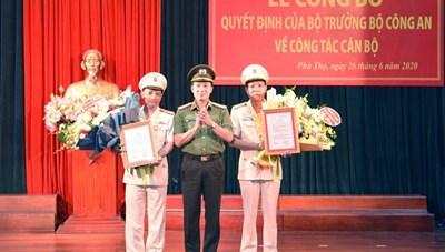 Bộ Công an bổ nhiệm 2 Phó Giám đốc Công an tỉnh Phú Thọ