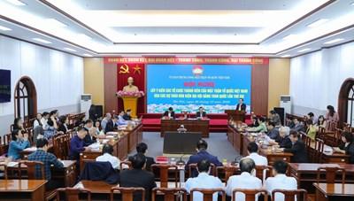 Phát huy trí tuệ, quyền làm chủ của toàn dân tham gia đóng góp với Đảng