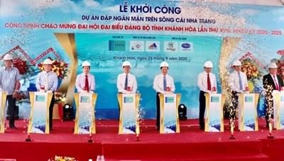 Khánh Hòa khởi công đập ngăn mặn trên sông Cái