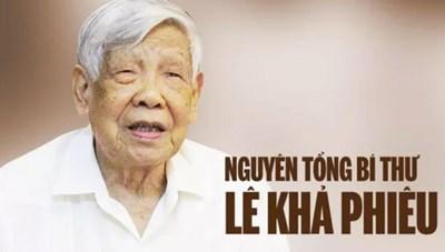 'Đồng chí Lê Khả Phiêu đã góp phần mở rộng quan hệ đối ngoại của đất nước'