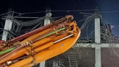 Sập trần bê tông công trình tại Công ty Toyota Bắc Giang