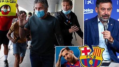 Bố Lionel Messi bị vây kín khi tới Barcelona