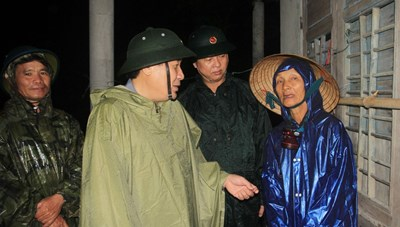 Ảnh hưởng của bão số 5, Quảng Trị mưa to