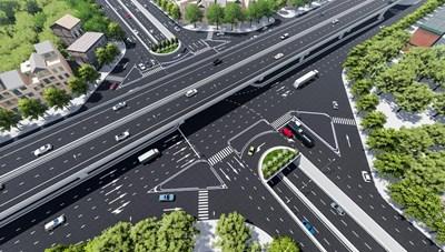Sắp khởi công xây dựng hầm chui Lê Văn Lương - Vành đai 3