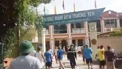 Hà Nội: Dập tắt đám cháy tại trường mầm non Trường Yên ngày cuối tuần