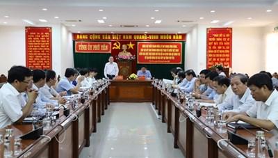 BẢN TIN MẶT TRẬN: Chủ tịch Trần Thanh Mẫn làm việc với Thường vụ Tỉnh ủy Phú Yên