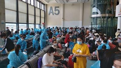 Thêm 343 công dân Việt Nam tại Đài Loan về nước