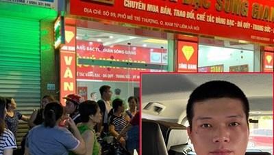 Hà Nội: Khởi tố kẻ cướp tiệm vàng